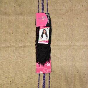NAOMI TWIST SuBlime Crochet braid 16 `` #1B